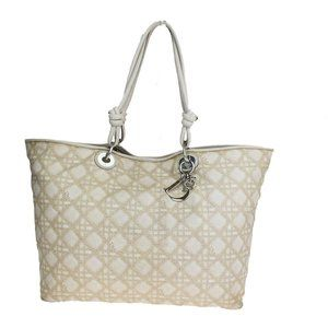 Christian Dior Cannage Shoulder Bag Coating Canvas